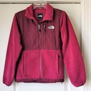 North Face Denali Fleece Jacket Burgundy SMALL